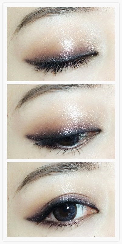 眼妆的画法步骤图片内双