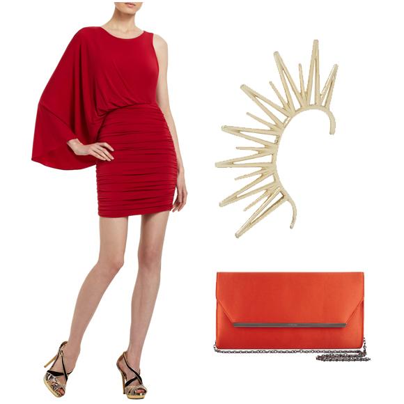 红色裙子 $268.00