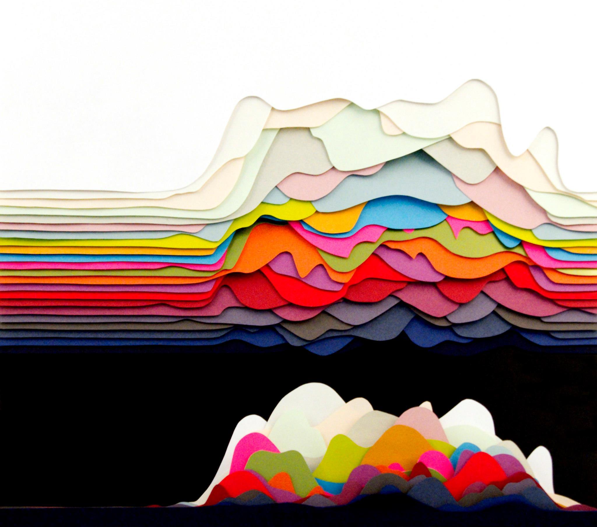 用色彩拥抱夏天:超眩目3d纸雕欣赏