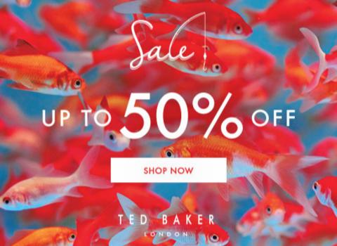 少女风:Ted Baker官网精选包包、鞋子等季末促销